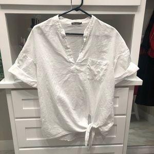 🔵Ella Moss white blouse size small